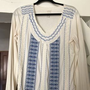 Boho Lucky Brand 🍀 Embroidered Shirt!!